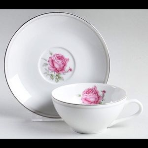 Imperial Rose Flat Cup & Saucer Set